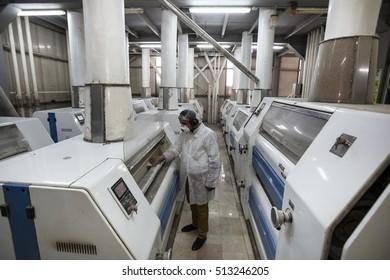 Turkey - August 21 ,2016 :Ulusoy Flour Mill, Samsun.