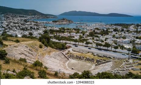 Turkey Bodrum City Drone view