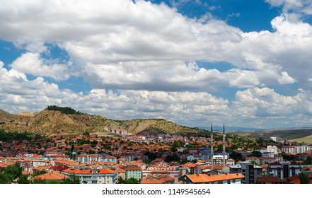 Turkey, Cankiri panaromic landscape view