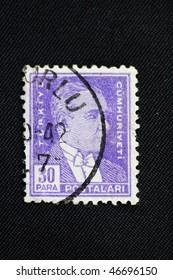 TURKEY - CIRCA 1942: A stamp printed in Turkey shows Mustafa Kemal Ataturk, circa 1942