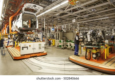 Turkey - December 17,2014 :Ford car factory. Izmit factory.