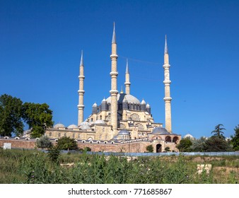 Turkey, Edirne, Selimiye Mosque. The UNESCO World Heritage Site Of The Selimiye Mosque, Built By Mimar Sinan In 1575.