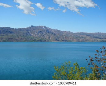 Turkey, Elazig Hazar lake and mountain landscape