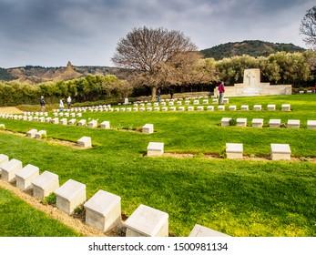 TURKEY, GALLIPOLI - MARCH 16, 2015: Ari Burnu war cemetery and memorial at Gallipoli