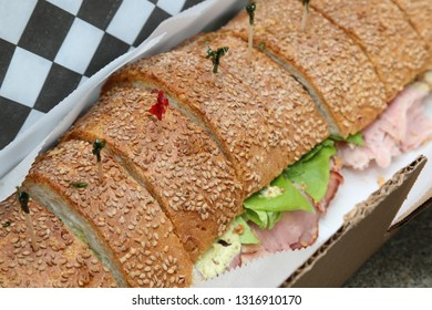 Turkey Ham Mustard Sandwich