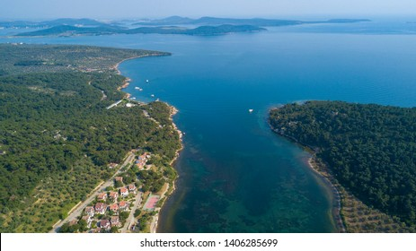 turkey holiday City Ayvalik nature from the aerial view