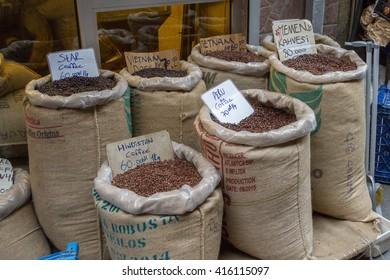 Turkey, Istambul - april 2016, Turkish coffee in bags