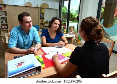 Turkey / Istanbul - 06/09/2015: business people are talking. parents are meeting with the teacher