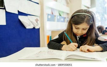 Turkey / Istanbul - 06/13/2016: children study at school