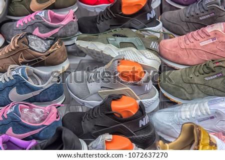 13dad3209ef5 Turkey Istanbul 20032018 Various Sneakers Sale Stock Photo (Edit Now ...