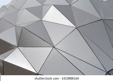 Turkey, Istanbul / April 2019 aluminum composite panels. Geometric shaped aluminum composite panel construction