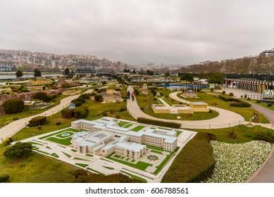 Turkey, Istanbul - March 09, 2017: Miniaturk is a miniature park  in Istanbul, Turkey.