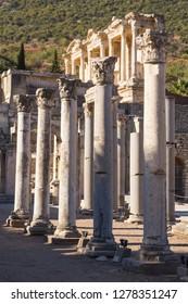 Turkey, Izmir, Kusadasi. Ephesus (ancient city in Anatolia) was discovered in Selcuk, western Turkey.