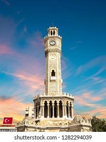 Turkey, izmir old clock tower