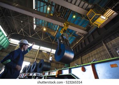 Turkey - June 9 ,2014 :Zonguldak, Erdemir iron and steel factory. Erdemir, Turkey's largest iron and steel is one of the plants.