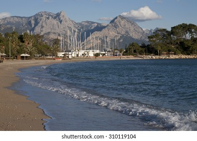 Turkey. Kemer. The shore of the Mediterranean Sea.