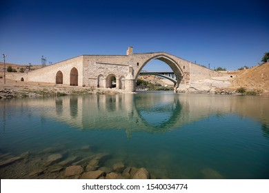 Turkey. The Malabadi Bridge on the Batman River (built 1146-1147 by Timurtas of Mardin)