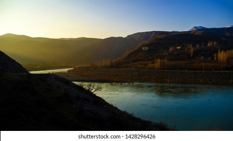 Turkey, Malatya, 17 March 2019, villages and river views