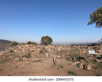 turkey manisa aigai ancient city drone view
