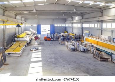 Turkey marble cutting factory - industrial in Afyonkarahisar, June 20, 2016