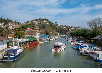 Turkey - March 10 ,2019 :Goksu Creek is popular place in Beykoz, Istanbul, Turkey. - Image