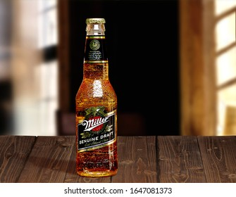 TURKEY - MARCH 26, 2019 Miller Genuine Draft is the original draft beer, a product of the Miller Brewing Company owned by SABMiller.