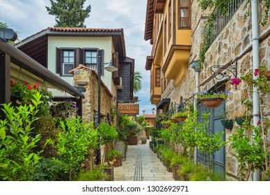 Turkey. May 17, 2017. Ancient streets of the old city of Antalya