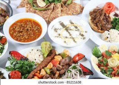 Turkey meat dishes made ??from an image of the traditions of