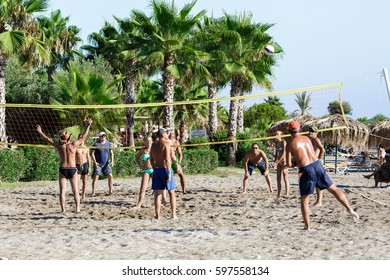 Turkey, Okurcalar - August 24, 2016: Beach volleybal
