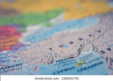Turkey on map background
