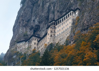 Turkey. Region Macka of Trabzon city - Altindere valley. The Sumela Monastery - 1600 year old ancient Orthodox monastery of the Panaghia located at a 1200 meters height on the steep cliff