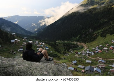 TURKEY - RIZE; June 22, 2017, free man and nature