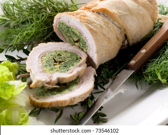 turkey roll filled