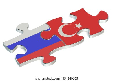 Turkey and Russian Federation puzzles from flags