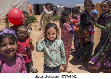 Turkey, Sanliurfa June 14, 2015     Syrian refugee girl they live in a camp.