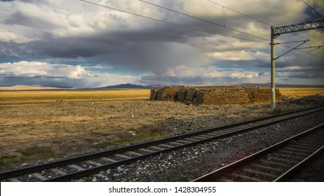 Turkey, Sivas, 19 March 2019 views of sky and rail