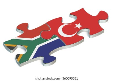 Turkey and South Africa puzzles from flags
