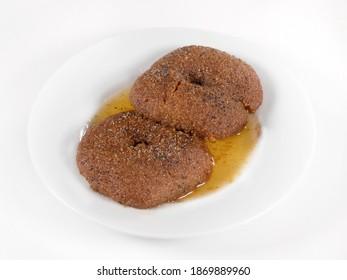 turkey traditional delicious dessert, sekerpare bursa dessert