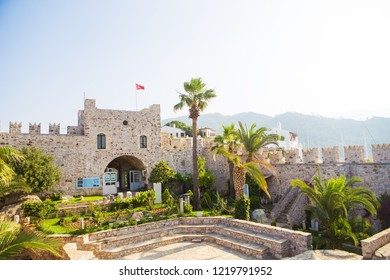 Turkey: view of the castle in Marmaris. Marmaris Castle is a popular tourist attraction in Turkey.