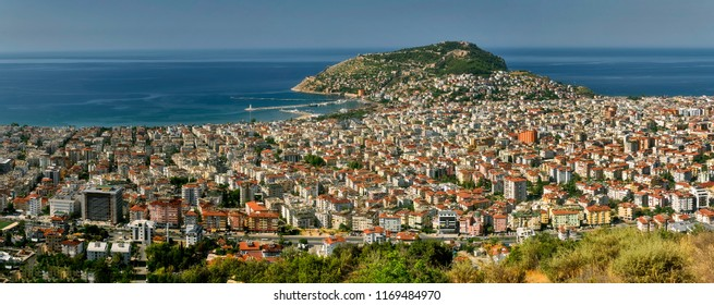 Turkey, view of the city of Alanya - panorama