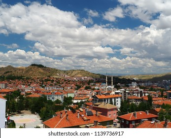 Turkey-Cankiri province city views and cloudy sky