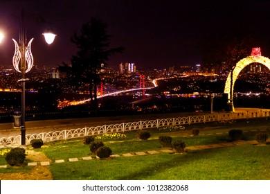 TURKEY.ISTANBULI - NOVEMBER 11, 2017: Night Istanbul.