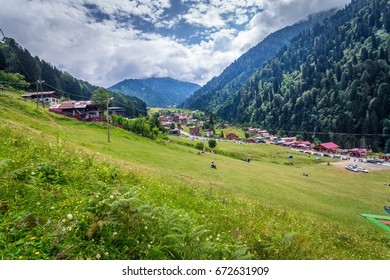 TURKEY,Rize,August 14, 2015: Ayder Plateau, Rize, Turkey.The Ayder Valley lies between Rize and Artvin.A popular destination for summer tourism.