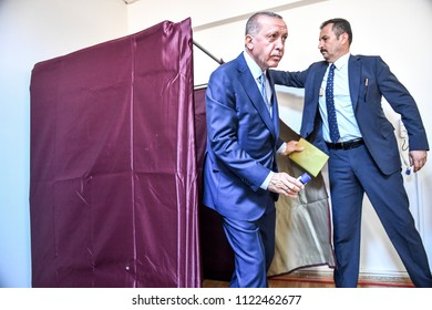 Turkey's president and the ruling Justice and Development Party, or AKP leader Recep Tayyip Erdogan, Turkey's elections were to vote 24 JUNE 2018 isatnbul at Turkey