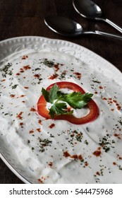 Turkish Appetizer Haydari with yogurt (Tzatziki)