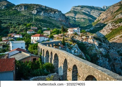 Turkish aqueduct in Stari Bar, Montenegro