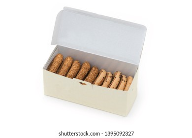 Turkish Bagel Kandil simiti with box. (stack of pastry)