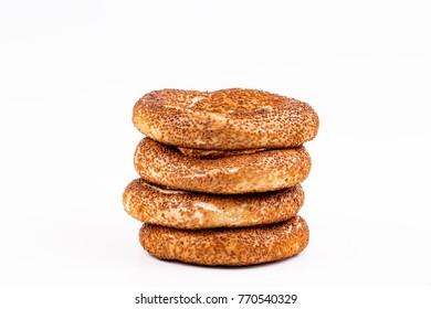 Turkish bagel; (simit, gevrek)