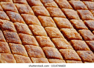 Turkish baklava served in the tray