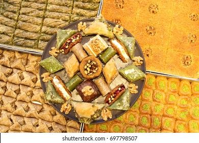 Turkish baklava and various sweets